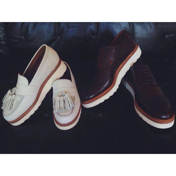 Grenson Shoes for him & for her.  http://shopigo.com/p/1006453/grenson/clara-ayakkabi http://shopigo.com/p/1006450/grenson/archie-ayakkabi  #shopigo #theloft #availableonsite #grenson #leather #shoes #brown #white #oxford #fringe #stylish #fashion #womensfashion #mensfashion