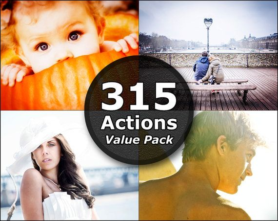 315 Photoshop Actions Photoshop Elements Actions by SupremerStudio