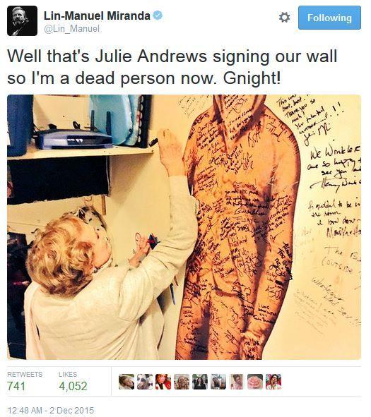 "Lin + Julie = dead ""...so I'm a dead person now."""