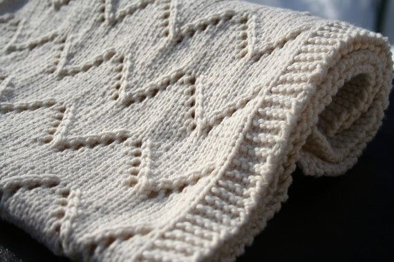 Welcome Baby blanket knitting pattern PDF by AmandaLilleyDesigns