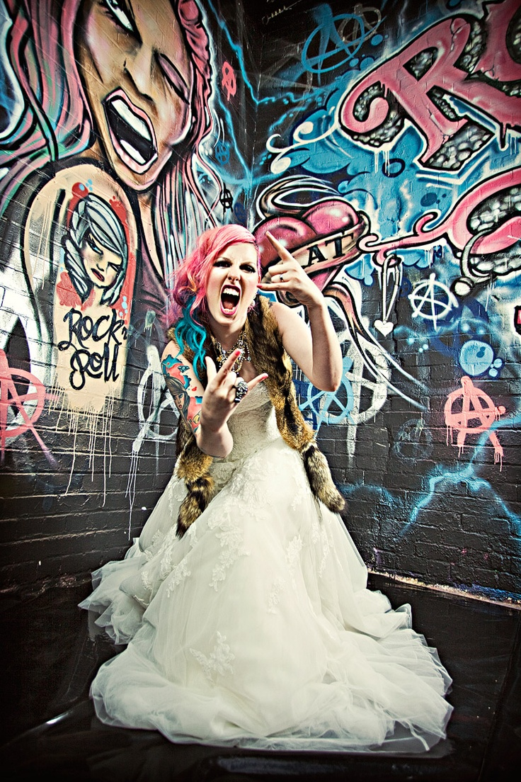 rock and roll wedding: