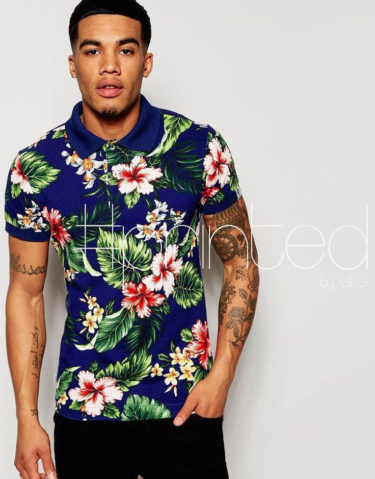 Shop Franklin & Marshall Polo Shirt with All Over Floral Print at ASOS.