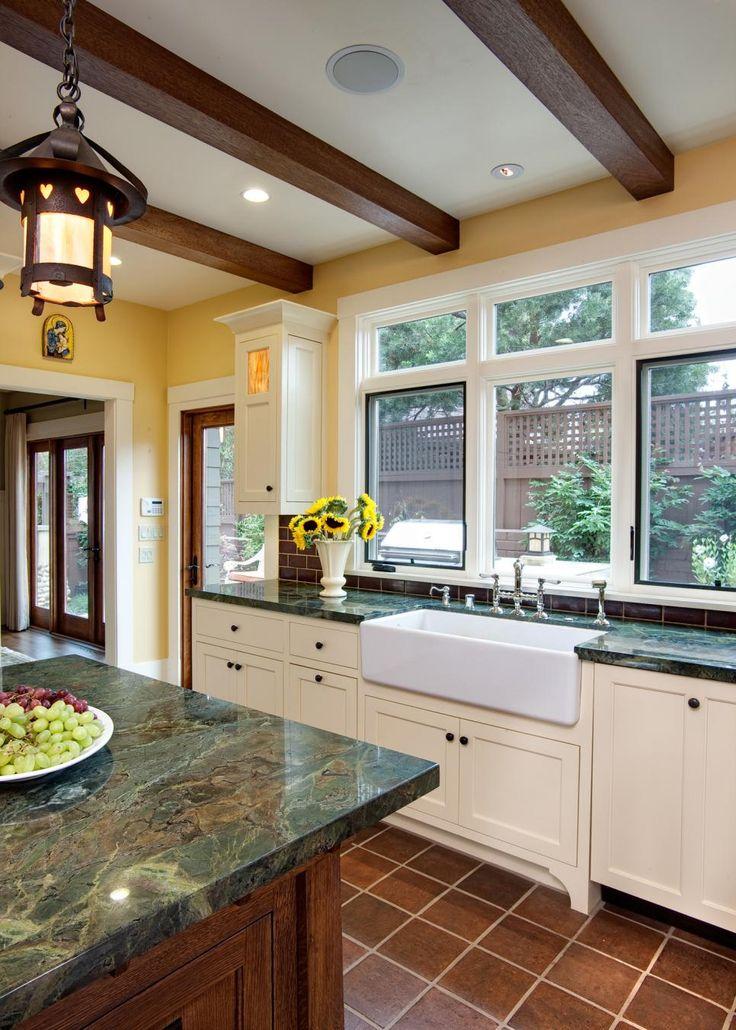 Remodeled 1910 Craftsman Pairs Classic Features Open Layout Casa Derin Craftsman Kitchen