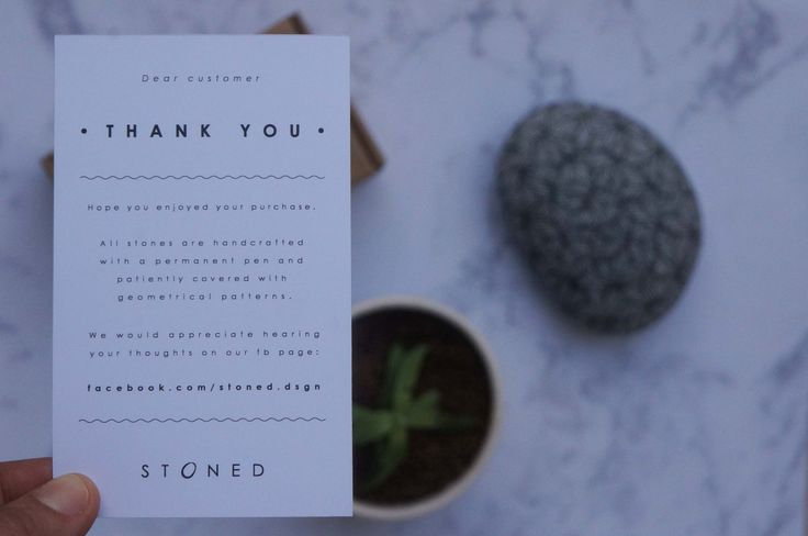 Thank you letter | STONED