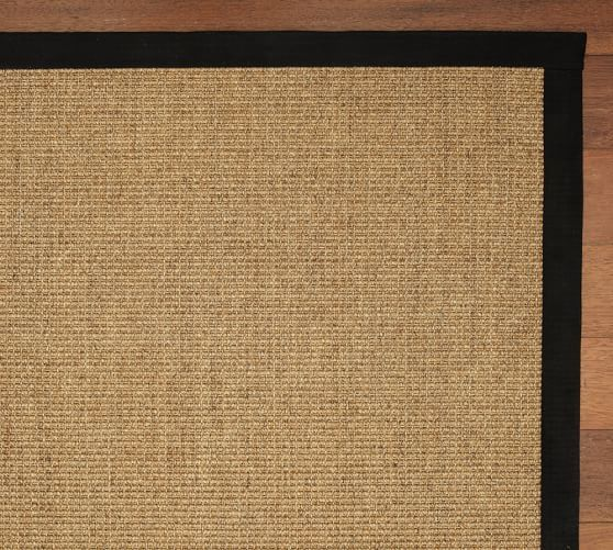 Color Bound Natural Sisal Rug Black Pottery Barn