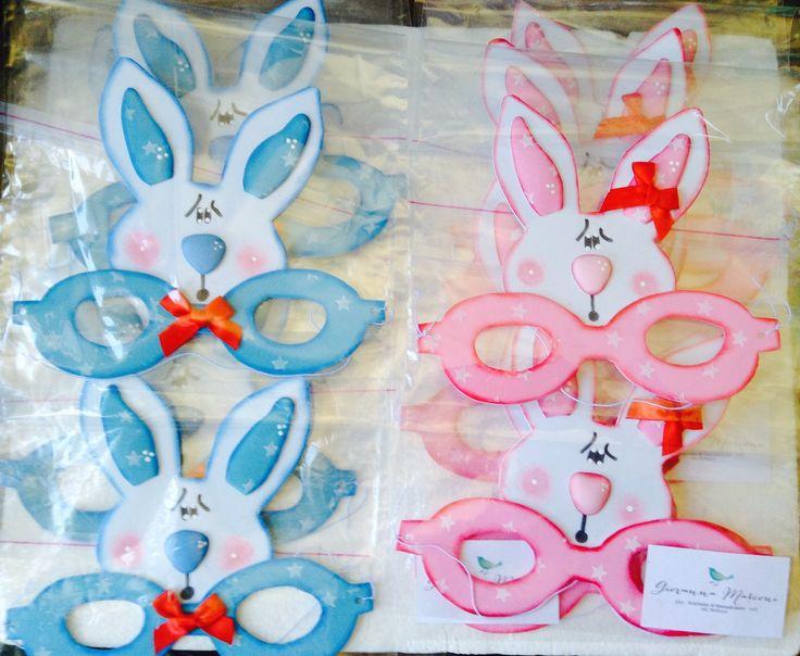 Antifaz de conejo en goma eva , realizado por Giovanna Marconi
