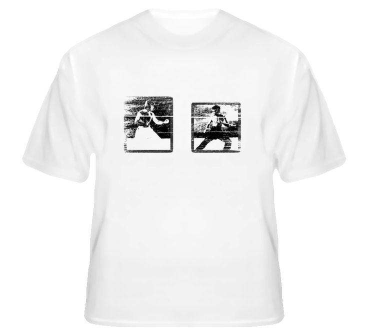 Chuck Norris vs Bruce Lee Way of the Dragon Grunge Movie T Shirt