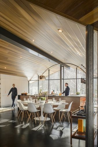 The central kitchen helps to make this part of the home an excellent entertainment area