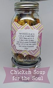 """Chicken Soup for the Soul Mix. Need a little chicken noodle soup for the soul? Here's a flavorful soup mix that can be made ahead of time and stored in the pantry or given as a thoughtful gift for someone who needs a little """"pick-me-up""""."""