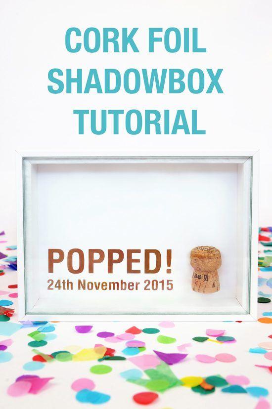 Cork Foil Shadowbox Tutorial