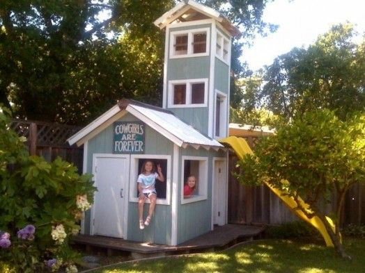 65 best outdoor playhouse ideas images on pinterest for Big kids play house