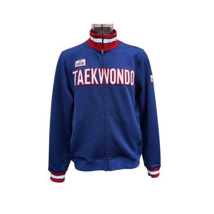"""Chaqueta Deportiva """"TAEKWONDO"""" Azul Marino - €45.00   https://soloartesmarciales.com    #ArtesMarciales #Taekwondo #Karate #Judo #Hapkido #jiujitsu #BJJ #Boxeo #Aikido #Sambo #MMA #Ninjutsu #Protec #Adidas #Daedo #Mizuno #Rudeboys #KrAvMaga #Venum"""