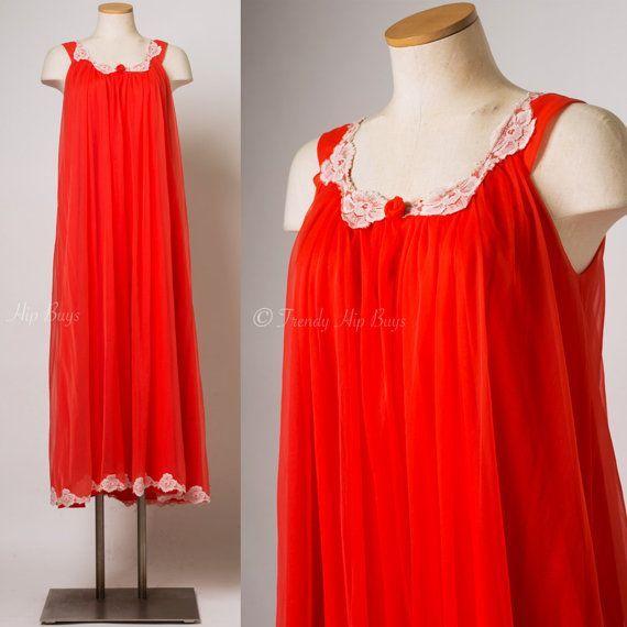 Vintage Lingerie Vintage red dress Vintage by TrendyHipBuysVintage - free shipping lingerie, more lingerie, mature lingerie