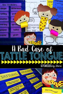 Do you have students who tattle in the classroom? A Bad Case of Tattle Tongue is a great book for helping students understand the difference between tattling and reporting. Here are some resources you can use with the picture book in your classroom.
