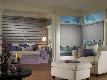 Vintage Bali Roller Shades Plume traditional roller blinds Combine rollershades and romanshades