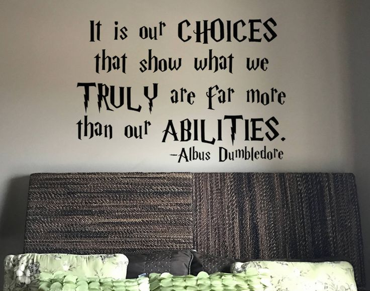 harry potter wall vinyl decal it is our choices that show what we truly are far