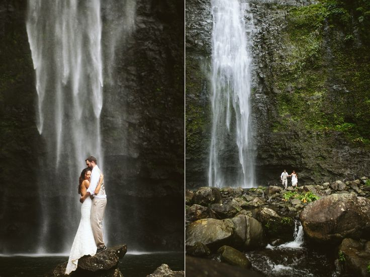 Waterfall Elopement - Like what we want <3 Possible Location - Hanakapiai Falls. 8mile Round Trip Hike - Right up our alley!
