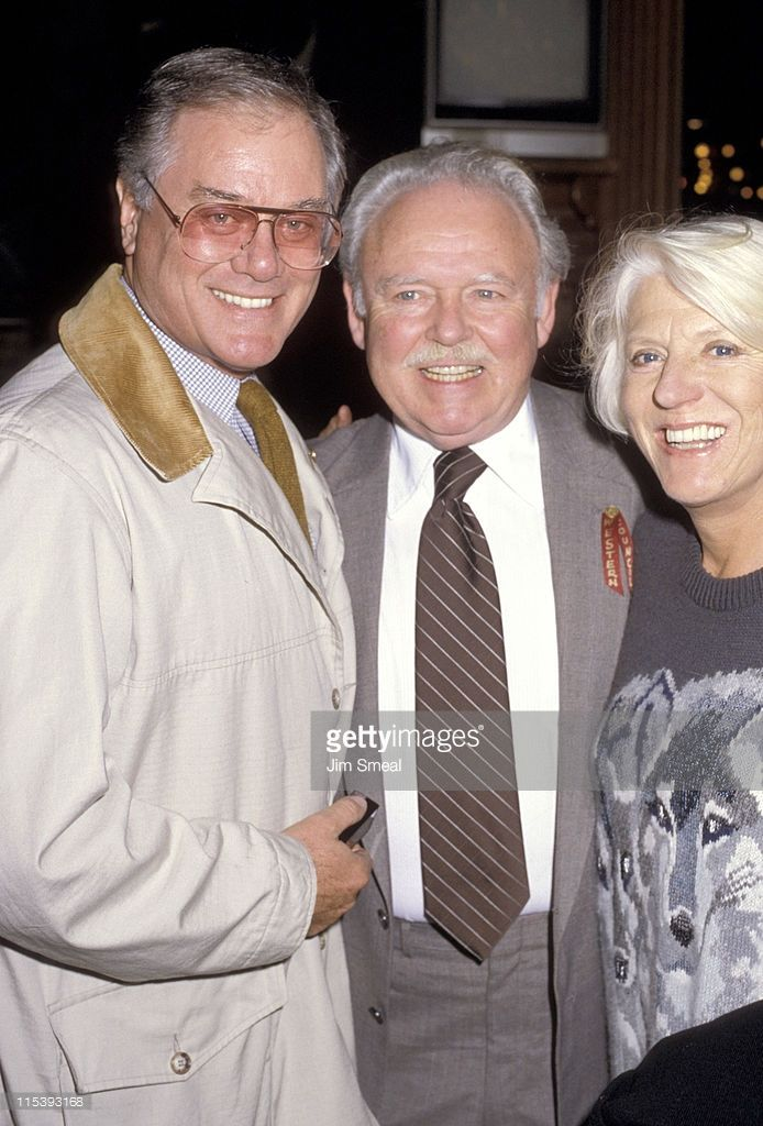 carroll o'connor | Larry Hagman with wife Maj Carroll O'Connor during Actor's Fund ...