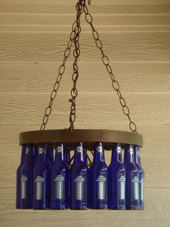 Beer Bottle Chandeliers 7 best abajour images on pinterest crafts recycling and bottle beer bottle chandelier audiocablefo
