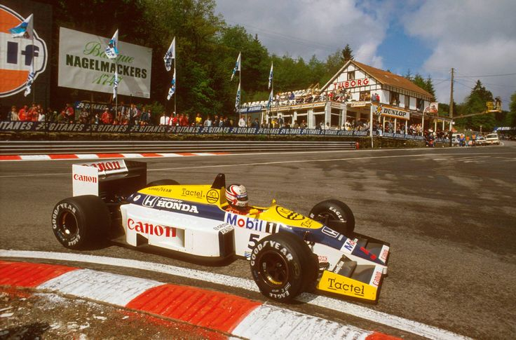 Nige, Spa in 1986 (Williams...fb). Next 2014 race coming up at Spa.