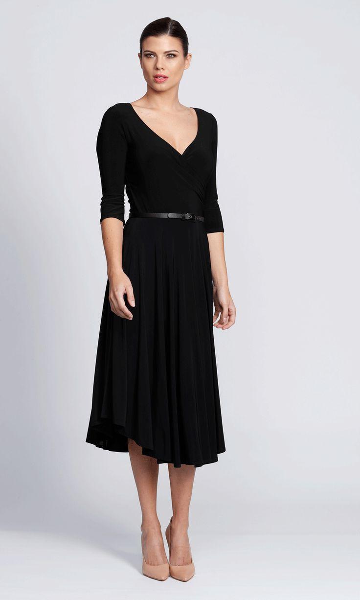 Stella wrap dress in black