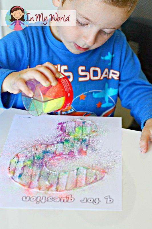 Preschool Letter Q fine motor activity