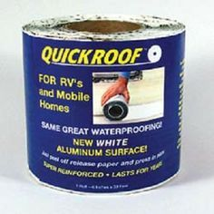 RV White Waterproof Roof Repair 6 inch x 25 ft Roll. Repairs metal and flat roofs on RVs, mobile homes, trucks, trailers, gutters, flashings and skylights. Just peel off the self-stick, super reinforced white release paper and press in place! Your Price: $27.26
