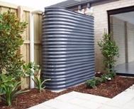Elegant rainwater tank love