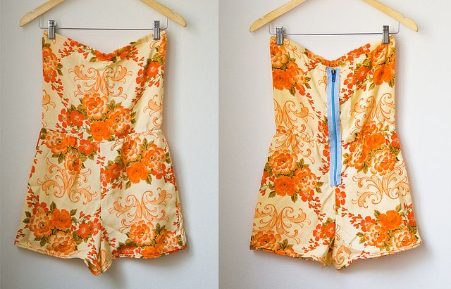 Romper made from vintage grandma's fabric  :)