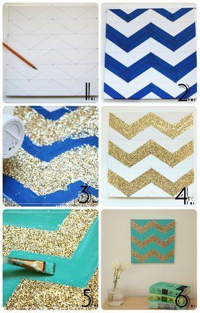 Mejores 8 imgenes de ideias para a casa en pinterest buenas ideas diy cuadro decorativo con glitter solutioingenieria Choice Image