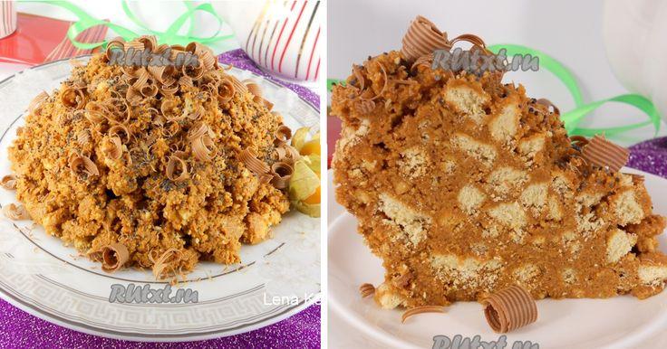 Mraveniště - Snadný, nepečený dort, hotový za 10 minut