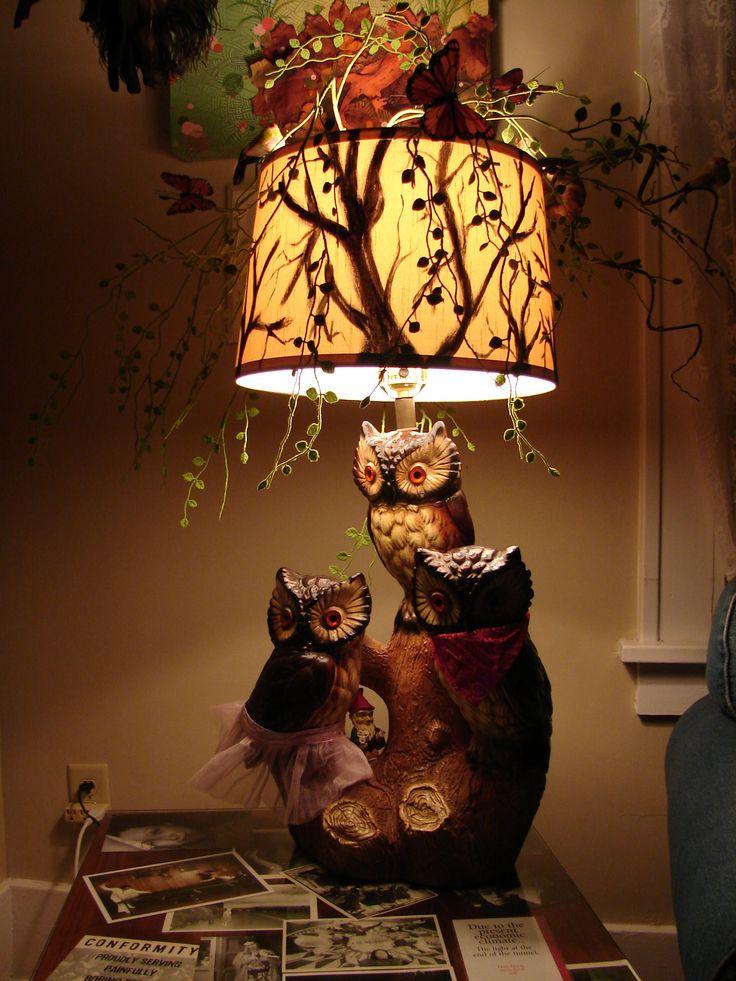Owl Lamp @ night!