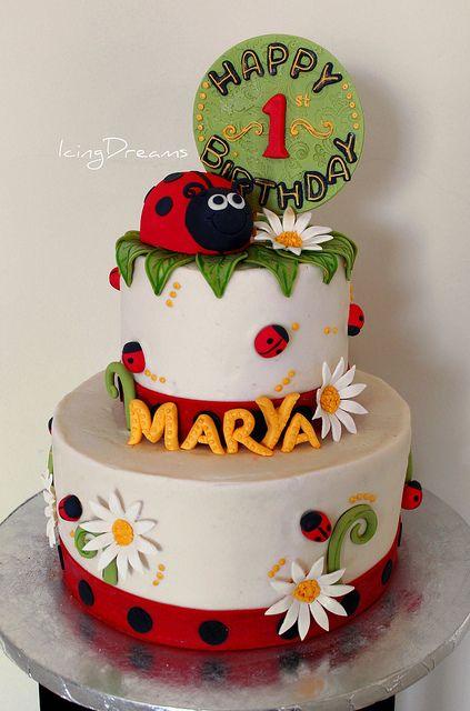 LadyBug Birthday Cake | Flickr - Photo Sharing!