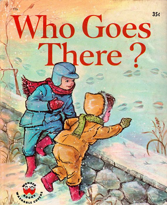 Who Goes There  a vintage picture book by Janet and Alex D'amato | ElwoodAndEloise, $7.00