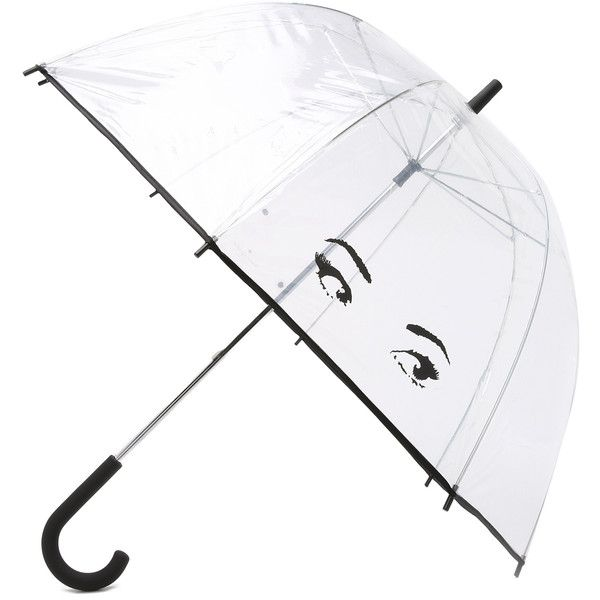 Kate Spade New York Eyes Umbrella (1,735 DOP) ❤ liked on Polyvore featuring accessories, umbrellas, kate spade, other, kate spade umbrella, transparent bubble umbrella, see through umbrella and plastic umbrella