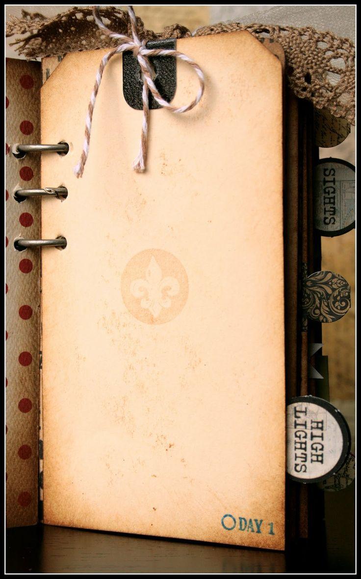 Scrapbook ideas mini books - Mini Travel Album With Template Instructions Album Scrapbookscrapbook Layoutstravel