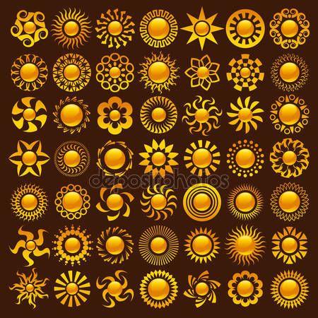 Dessins de soleil — Image vectorielle