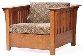 Mission Chair Bed in oak.