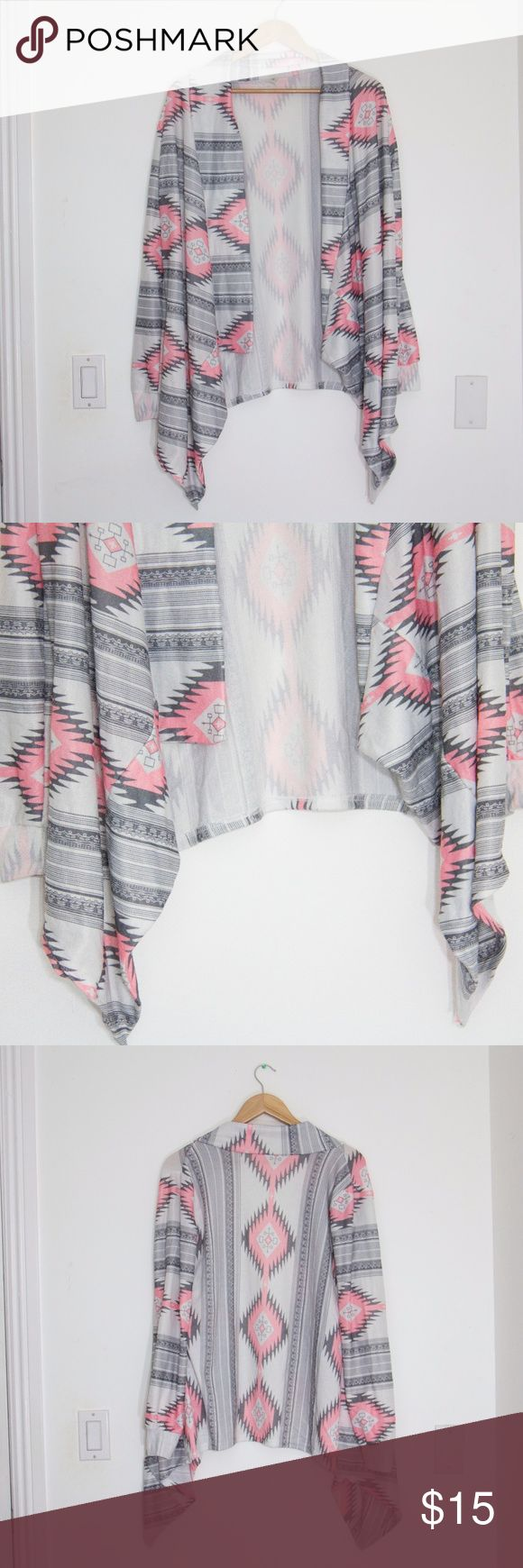 Tribal Print Cardigan Size L Brand: Hua Lan Size: L Material: Tag does not say  Condition: Excellent, no flaws! Sweaters Cardigans