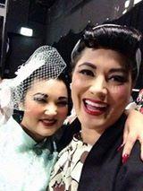 Miss Illustrated WA 2014-Kenjai Pinup on left with Miss Roxy Lane backstage at WA Final. www.misspinupaustralia.com.au