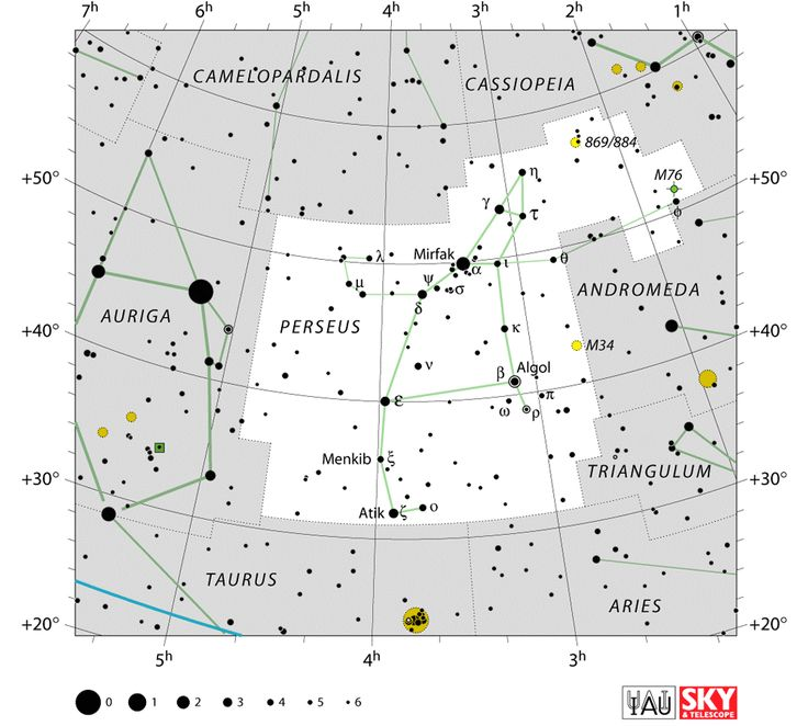 perseus stars,perseus location,star map,perseus constellation star chart
