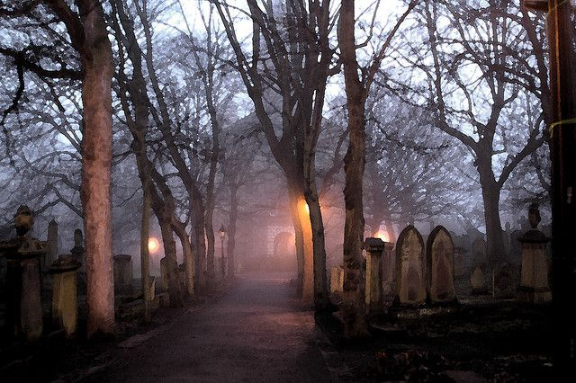 eerie Scottish cemetery ... photo by Mchan Gumatay via Flickr