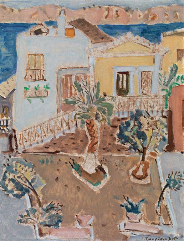 .:. Σπυρόπουλος Γιάννης – Giannis Spyropoulos [1912-1990] Νησιώτικα σπίτια, 1955