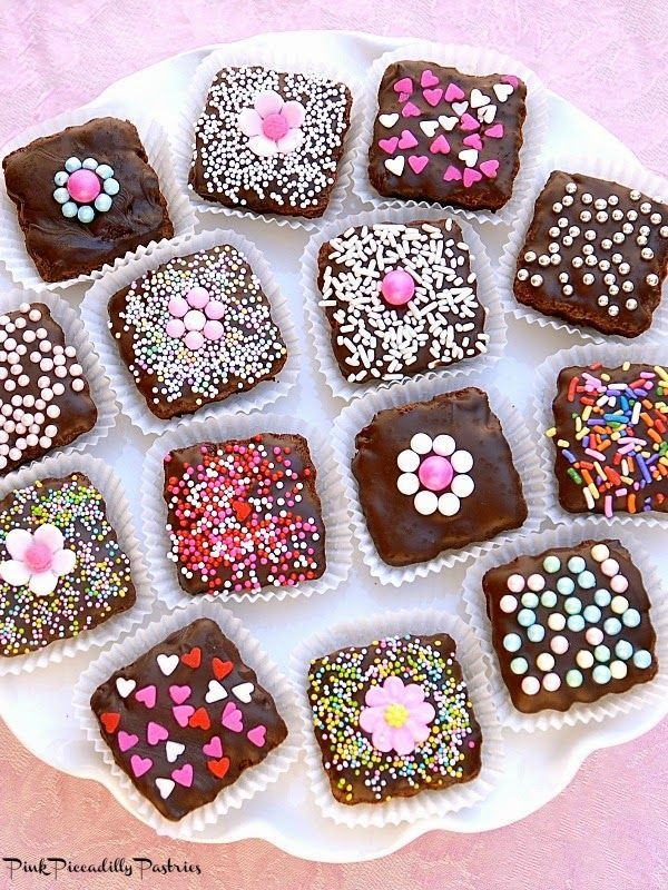 Brownie Bites for Valentine's Day