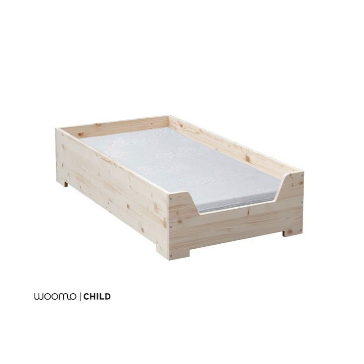Para nuestra línea de mobiliario infantil utilizamos materiales respetuosos con el medio ambiente y con la salud de los niños:  - Madera natural de abeto  - Tornillos de Zinq y Niquel  - Acabado en barniz al agua Satinado (Opcional)  - Producto artesanal  ................................  Características:  Cama de suelo para aumentar la independencia del niño, sobre una altura de 3cm del suelo permite que el niño la use con total independencia. La cama tiene un borde de 9cm sobre la altura…