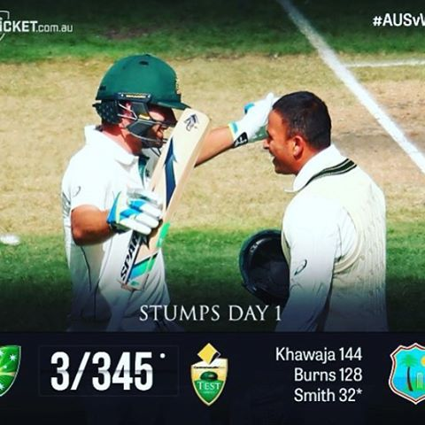 Aussies Finish 3/345 On Day 1 Can Aussies Get A Good Score ? #AUSvWI