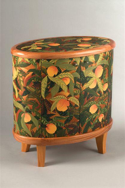Bonnie Bishoff - Peaches Cabinet - polymer clay veneer
