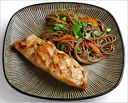 Citrus-Yellowtail w/ Soba Noodles. I'll make this and make broccoli in lieu of the Soba Noodles.