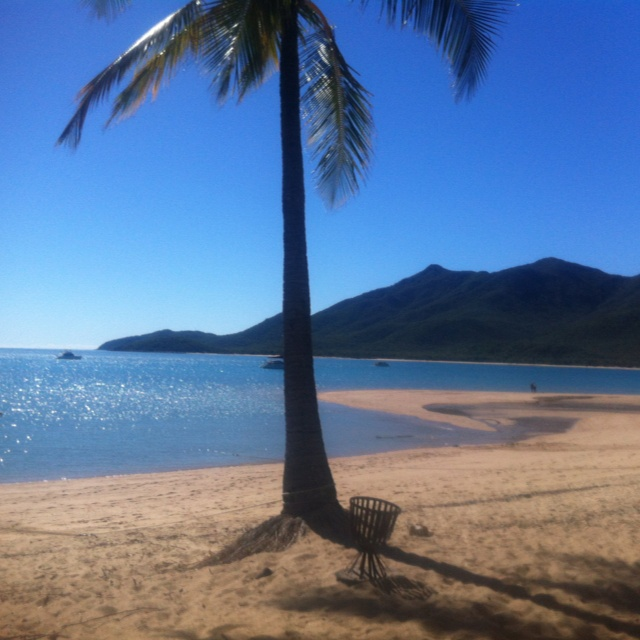 Montes for lunch. Cape Gloucester, Whitsundays, Aus