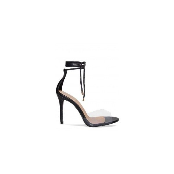 Perspex Heels - HEELS : Simmi Shoes - Love Your Shoes! ❤ liked on Polyvore featuring shoes, sandals, transparent heel shoes, acrylic heel shoes, perspex heel sandals, transparent heel sandals and clear heel shoes